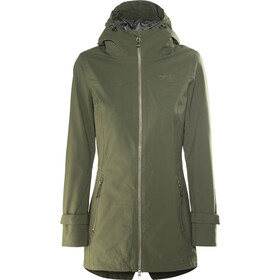 Meru Nikea Manteau imperméable 2 couches Femme, forest night